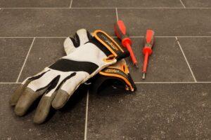 Pracovné rukavice so suchým zipsom